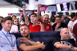 Fans watch the game between England and Russia in the Fanzone at Ashton Gate - Mandatory by-line: Robbie Stephenson/JMP - 11/06/2016 - FOOTBALL - Ashton Gate - Bristol, United Kingdom  - England vs Russia - UEFA Euro 2016