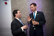 JEREMY MAYHEW; JEREMY HUNT;, LA Philharmonic reception, Fountain room, Barbican. 27 January 2011 -DO NOT ARCHIVE-© Copyright Photograph by Dafydd Jones. 248 Clapham Rd. London SW9 0PZ. Tel 0207 820 0771. www.dafjones.com.