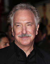 Alan Rickman  arriving for the premiere of  Gambit,  in London, Wednesday, 7th November 2012.  Photo by: Stephen Lock / i-Images