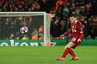 Football - 2019 / 2020 UEFA Champions League - Round of Sixteen, Second Leg: Liverpool (0) vs. Atletico Madrid (1)<br /> <br /> Liverpool's Andy Robertson in action during todays match  , at Anfield.<br /> <br /> <br /> COLORSPORT/TERRY DONNELLY