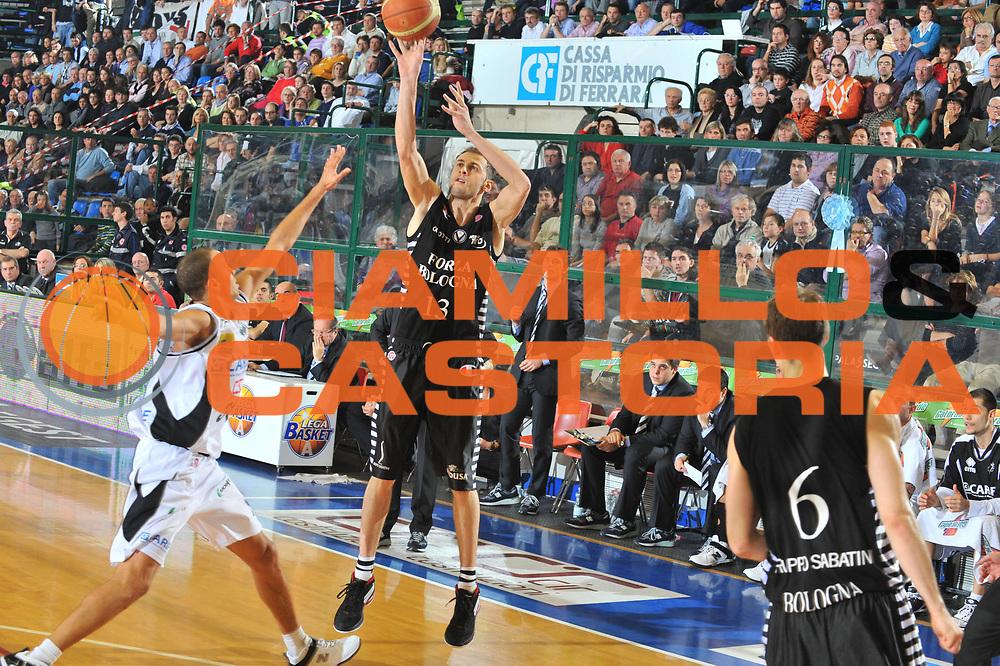 DESCRIZIONE : Ferrara Lega A 2009-10 Basket Carife Ferrara Virtus Bologna<br /> GIOCATORE : Viktor Sanikidze<br /> SQUADRA : Carife Ferrara<br /> EVENTO : Campionato Lega A 2009-2010<br /> GARA : Carife Ferrara Virtus Bologna<br /> DATA : 06/12/2009<br /> CATEGORIA : Tiro Three Points<br /> SPORT : Pallacanestro<br /> AUTORE : Agenzia Ciamillo-Castoria/M.Gregolin<br /> Galleria : Lega Basket A 2009-2010 <br /> Fotonotizia : Ferrara Campionato Italiano Lega A 2009-2010 Carife Ferrara Virtus Bologna<br /> Predefinita :