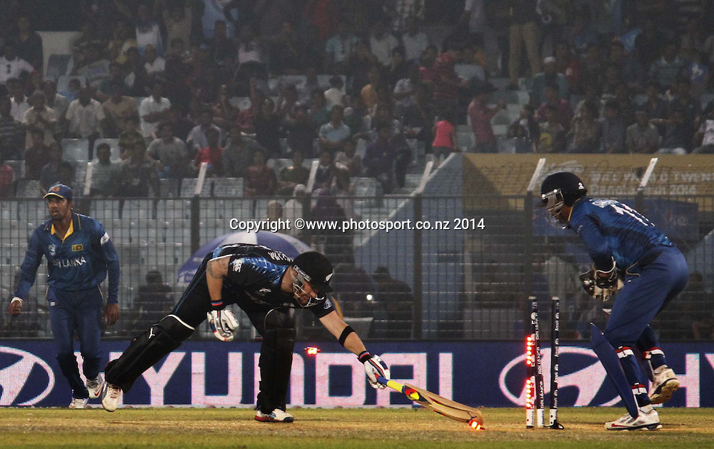 Brendon McCullum - ICC World Twenty20 cricket, Zahur Ahmed Chowdhury Stadium, Chittagong, Bangladesh. New Zealand v Sri Lanka, 31 March 2014. Photo: www.photosport.co.nz