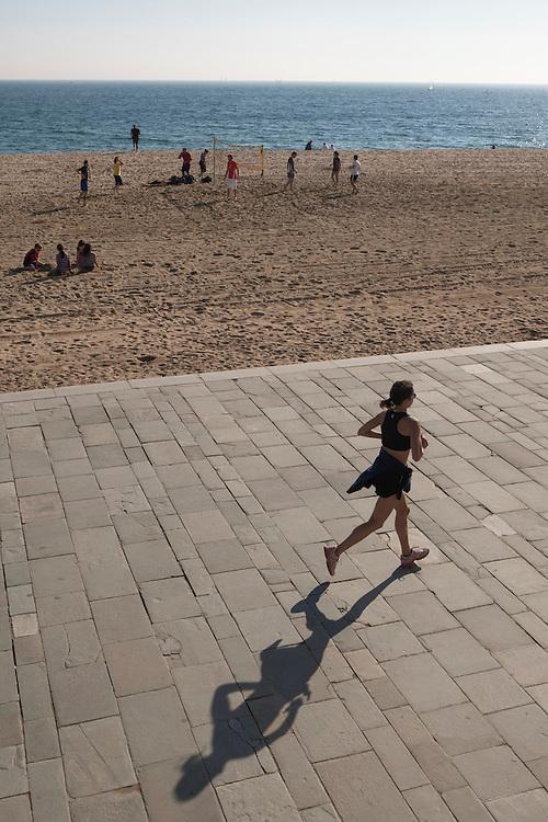 Poblenou beach, Barcelona, Catalonia, Spain.