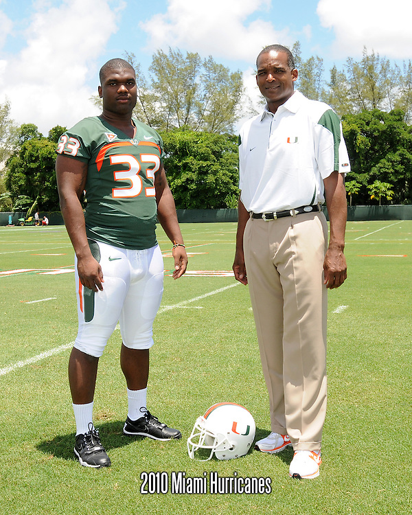2010 Miami Hurricanes Football Photo Day
