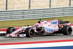 October 20, 2017 - Austin, Texas, U.S - Estaban Ocon of France (31) in action before the Formula 1 United States Grand Prix race at the Circuit of the Americas race track in Austin,Texas. (Credit Image: © Dan Wozniak via ZUMA Wire)