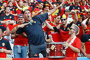 Belgium fans before the Euro 2016 match between Sweden and Belgium at Stade de Nice, Nice, France on 22 June 2016. Photo by Andy Walter.