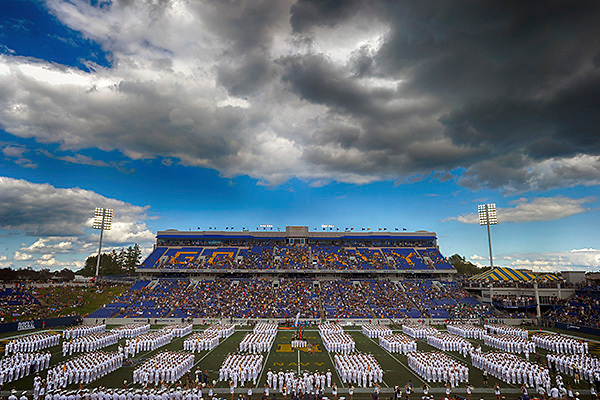 ANNAPOLIS, MD - SEPTEMBER 09: xx on September 9, 2017, at Navy - Marine Corps Memorial Stadium in Annapolis, MD. The Navy Midshipmen defeated eh Tulane Green Wave, 23-21.  (Photo by Mark Goldman/Icon Sportswire)