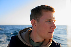 UK ENGLAND CORNWALL SENNEN COVE 11JUN08 - Portrait of handline fisherman Will Treneer (19) of Newlynl off the coast of south-west Cornwall on his boat, the Cornish Rose...jre/Photo by Jiri Rezac / WWF UK..© Jiri Rezac 2008..Contact: +44 (0) 7050 110 417.Mobile:  +44 (0) 7801 337 683.Office:  +44 (0) 20 8968 9635..Email:   jiri@jirirezac.com.Web:    www.jirirezac.com..© All images Jiri Rezac 2008 - All rights reserved.