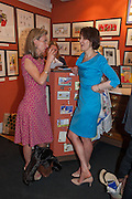 DAISY WAUGH; JENNI RUSSELL, Elliott and Thompson host a book launch of How the Queen can Make you Happy by Mary Killen.- Book launch. The O' Shea Gallery. St. James's St. London. 20 June 2012.