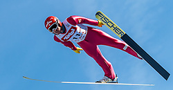 28.01.2017, Casino Arena, Seefeld, AUT, FIS Weltcup Nordische Kombination, Seefeld Triple, Skisprung, im Bild Francois Braud (FRA) // Francois Braud of France in action during his Competition Jump of Skijumping of the FIS Nordic Combined World Cup Seefeld Triple at the Casino Arena in Seefeld, Austria on 2017/01/28. EXPA Pictures © 2017, PhotoCredit: EXPA/ JFK