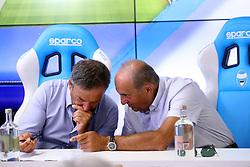 ANDREA MAGGI E FRANCESCO COLOMBARINI<br /> CONFERENZA DISSEQUESTRO STADIO PAOLO MAZZA DOPO LE VERIFICHE
