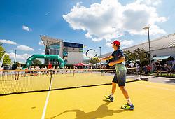 "Blaz Kavcic at Fan tennis event for kids named ""Play tennis"" by Tenis Slovenija, on May 26, 2018 in BTC - Millenium centre Ljubljana, Slovenia. Photo by Vid Ponikvar / Sportida"