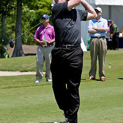2009 April 22: Drew Brees quarterback of the NFL's New Orleans Saints watches his shot during the PGA Tour, Zurich Classic of New Orleans Classic Pro-Am played at TPC Louisiana in Avondale, Louisiana.