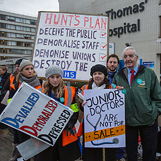 10 Feb 2016 - Junior Doctors in second 24 hour National Strike.