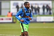 Forest Green Rovers Dale Bennett(2) warming up during the EFL Sky Bet League 2 match between Forest Green Rovers and Cambridge United at the New Lawn, Forest Green, United Kingdom on 20 January 2018. Photo by Shane Healey.