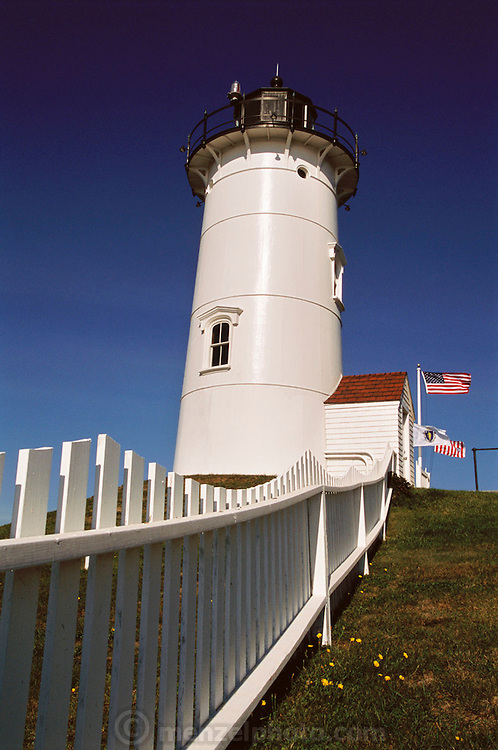 Nobska lighthouse on Cape Cod, near Falmouth, Massachusetts. New England, USA.