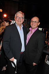 Left to right, CHRISTOPHER BIGGINS and NEIL SINCLAIR at the Wild for WSPA dinner in aid of the charity World Society for the Protection of Animals held at Under The Bridge, Stamford Bridge, Fulham Road, London on 23rd February 2012.