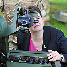 Ruth Davidson starts armed forces charity event, Edinburgh, 17 May 2018