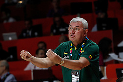13.09.2014, City Arena, Madrid, ESP, FIBA WM, Frankreich und Litauen, Entscheidungsspiel zwischen Platz 3 und 4, im Bild Lithuania´s coach Jones Kazlauskas // during FIBA Basketball World Cup Spain 2014 playoff match place 3 and 4 between France and Lithuania at the City Arena in Madrid, Spain on 2014/09/13. EXPA Pictures © 2014, PhotoCredit: EXPA/ Alterphotos/ Victor Blanco<br /> <br /> *****ATTENTION - OUT of ESP, SUI*****
