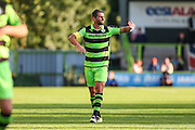 Forest Green Rovers Aarran Racine during the Pre-Season Friendly match between Forest Green Rovers and Cardiff City at the New Lawn, Forest Green, United Kingdom on 13 July 2016. Photo by Shane Healey.
