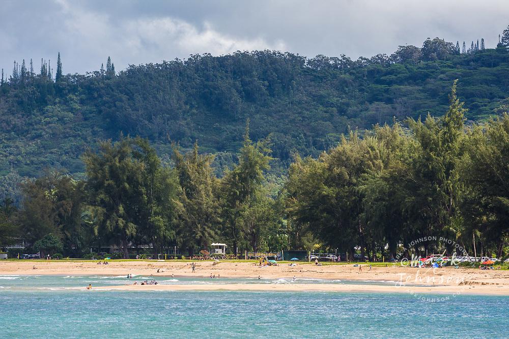 Pine Trees beach, Hanalei Bay, Hanalei Bay, Kauai, Hawaii