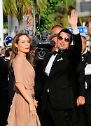 20.MAY.2009.CANNES<br /> <br /> SUPER HOLLYWOOD COUPLE BRAD PITT AND ANGELINA JOLIE ARRIVING AT BRAD'S PREMIERE FOR HIS NEW FILM THE INGLORIOUS BASTARDS AT THE 2009 CANNES FILM FESTIVAL.<br /> <br /> BYLINE MUST READ EDBIMAGEARCHIVE.COM<br /> <br /> *THIS IMAGE IS STRICTLY FOR UK NEWSPAPERS &amp; MAGAZINES ONLY*<br /> *FOR WORLDWIDE SALES &amp; WEB USE PLEASE CONTACT EDBIMAGEARCHIVE-0208 954 5968*