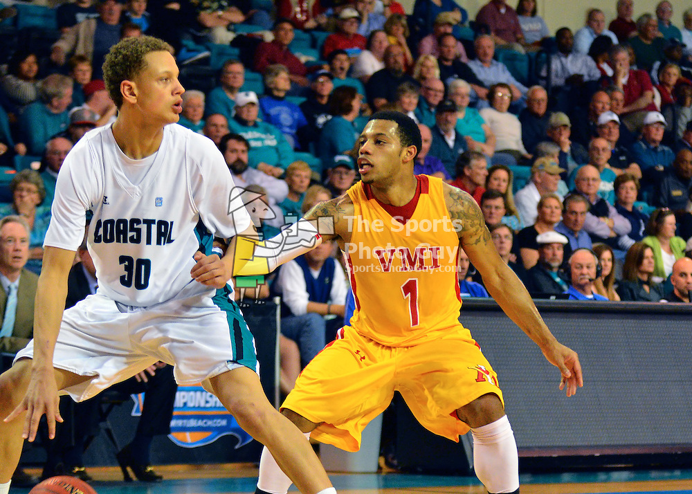NCAA Men's Basketball: VMI falls to Coastal Carolina, 66-62, in the semifinals of the 2014 Big South Men's Basketball Tournament