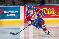 KELOWNA, CANADA - FEBRUARY 22: Colton Kehler #23 of the Edmonton Oil Kings warms up against the Kelowna Rockets on February 22, 2017 at Prospera Place in Kelowna, British Columbia, Canada.  (Photo by Marissa Baecker/Shoot the Breeze)  *** Local Caption ***