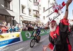 26.09.2018, Innsbruck, AUT, UCI Straßenrad WM 2018, Einzelzeitfahren, Elite, Herren, von Rattenberg nach Innsbruck (54,2 km), im Bild Radsport Teufel Didi Senft (GER) // cyclists devil Didi Senft of Germany during the men's individual time trial from Rattenberg to Innsbruck (54,2 km) of the UCI Road World Championships 2018. Innsbruck, Austria on 2018/09/26. EXPA Pictures © 2018, PhotoCredit: EXPA/ Reinhard Eisenbauer