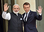 President Emannuel Macron Meets Indian PM  Modi