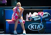 Karolina Pliskova of the Czech Republic celebrates after winning her quarter-final match at the 2019 Australian Open Grand Slam tennis tournament on January 23, 2019 at Melbourne Park in Melbourne, Australia - Photo Rob Prange / Spain ProSportsImages / DPPI / ProSportsImages / DPPI