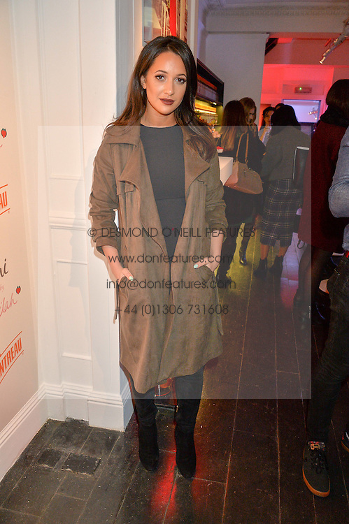 ROXIE NAFOUSI at the Cointreau launch for Yumi by Lilah Parsons SS/16 collection held at 15 Bateman Street, London on 1st December 2015