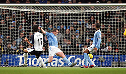 MANCHESTER, ENGLAND - WEDNESDAY, JANUARY 4th, 2006: Tottenham Hotspur's Mido scores the opening goal against Manchester City during the Premiership match at the City of Manchester Stadium. (Pic by David Rawcliffe/Propaganda)