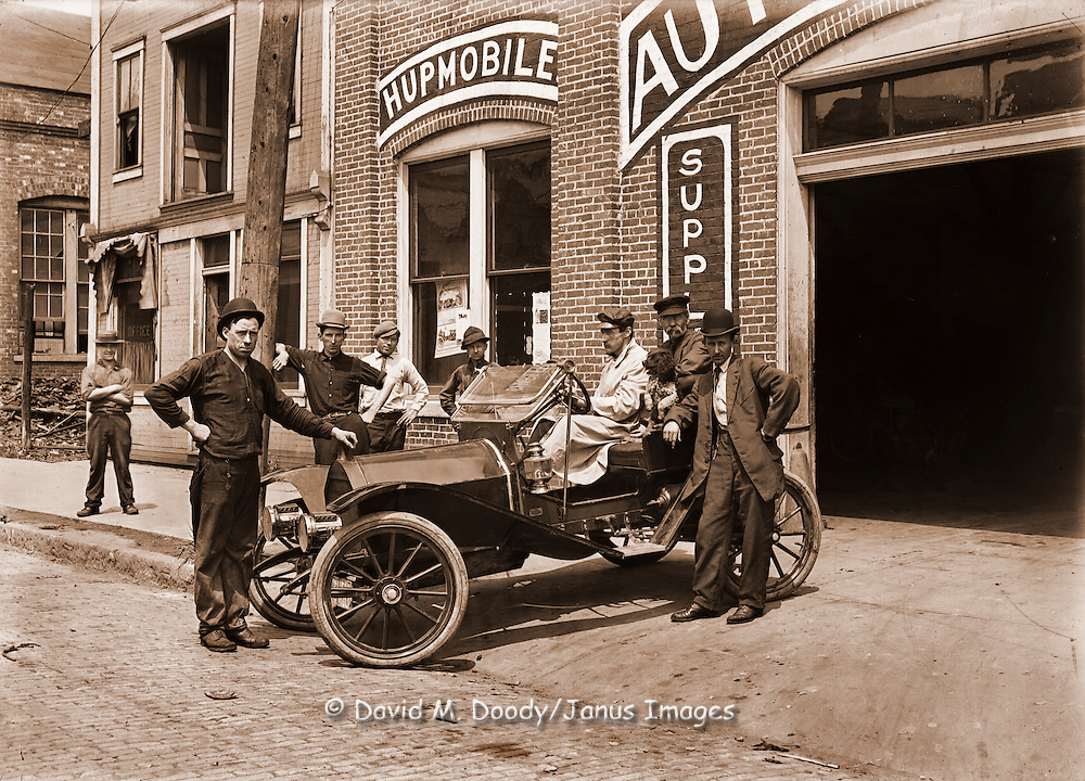 Hupmobile auto dealer, circa 1910 | David M. Doody Photo