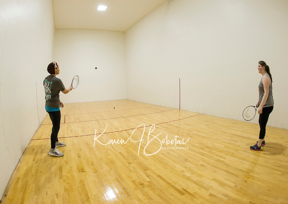 Racquetball court at Laconia Community Center in Laconia.  Karen Bobotas for the Laconia Daily Sun