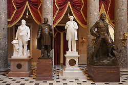Statues in the Capitol building in Washington DC in the United States. From a series of travel photos in the United States. Photo date: Friday, March 30, 2018. Photo credit should read: Richard Gray/EMPICS