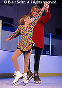 Exercise, Mother and Daughter Ice Skate on Indoor Rink, Mechanicsburg, Cumberland Co. PA