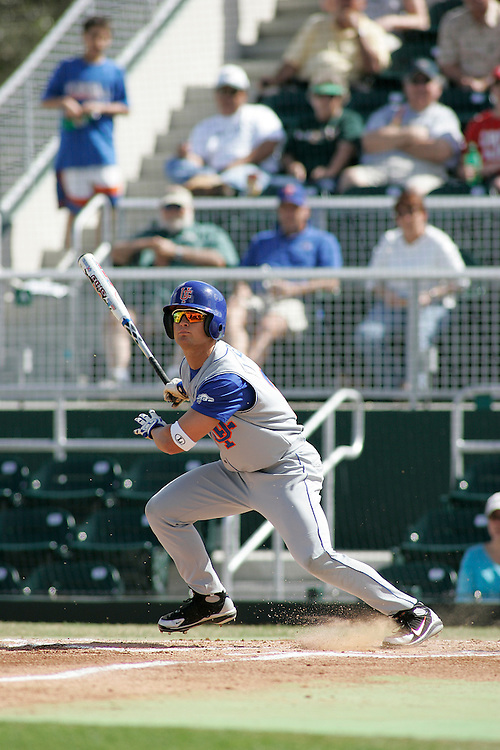 University of Florida outfielder Brian Leclerc in action during the Gators 2-1 victory over the Miami Hurricanes on February 17, 2006 at Mark Light Field in Coral Gables, Florida.