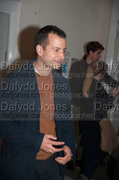 MATTHEW SLOTOVER, Opening of Morris Lewis: Cyprien Gaillard. From Wings to Fins, Sprüth Magers London Grafton St. London. Afterwards dinner at Simpson's-in-the-Strand hosted by Monika Spruth and Philomene Magers.