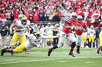 NCAA football game between the Ohio State Buckeyes and the Michigan Wolverines in Columbus, Ohio  November 24, 2012. (Photo/Tom Hauck)