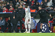 Liverpool forward Divock Origi (27) coming on as a substitute  during the Champions League match between Bayern Munich and Liverpool at the Allianz Arena, Munich, Germany, on 13 March 2019.
