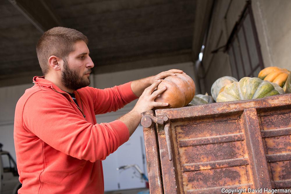 Andrea Frenda, farmer at his farm outside Turin