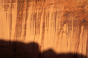 Morning light on canyon wall and shadow in Canyon de Chelly, Canyon de Chelly National Monument, Arizona.