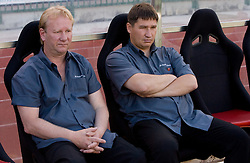 Sergei Ratnikov and Coach of Trans Narva Alexey Yagudin at 1st Round of Europe League football match between NK Rudar Velenje (Slovenia) and Trans Narva (Estonia), on July 9 2009, in Velenje, Slovenia. Rudar won 3:1 and qualified to 2nd Round. (Photo by Vid Ponikvar / Sportida)