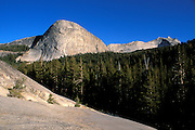 Fairview Dome and Cathedral Peak, Tuolumne Meadows area, Yosemite National Park, California