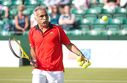 MANCHESTER, ENGLAND: Mansour Bahrami (IRN) on Day 2 of the Manchester Masters Tennis Tournament at the Northern Tennis Club. (Pic by David Tickle/Propaganda)