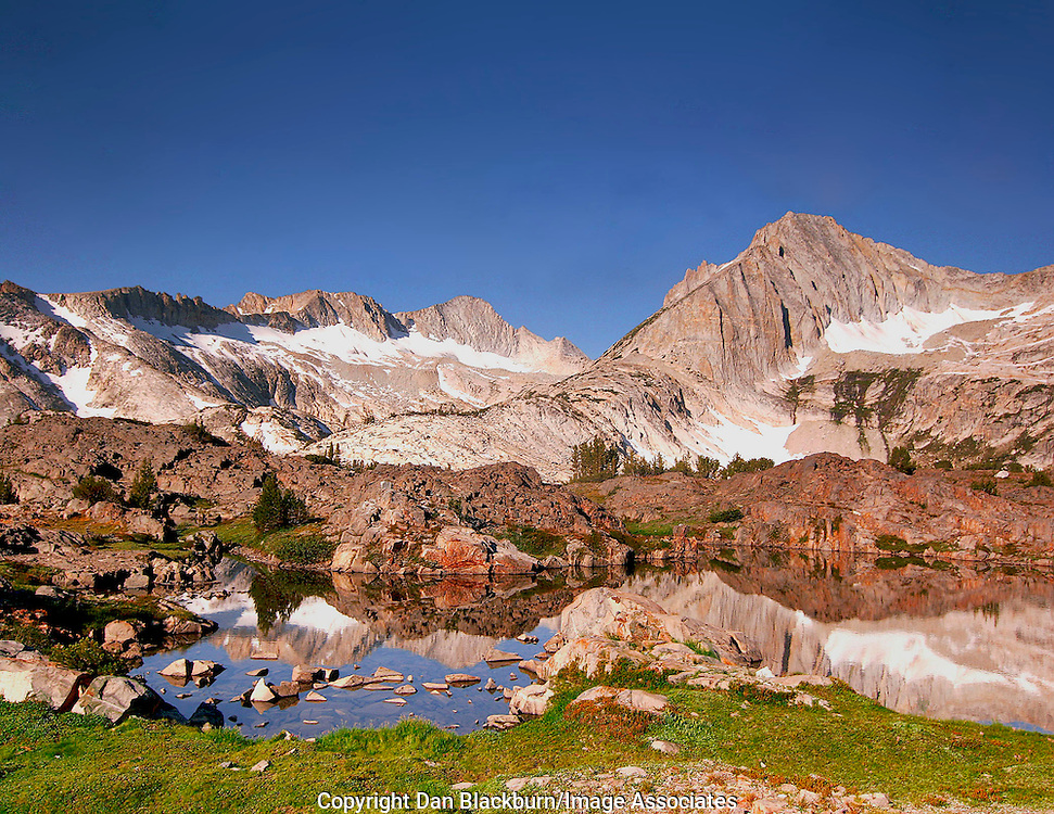 Mt. Conness & North Peak Rise over the Hoover Wilderness in the Sierra Nevada of California