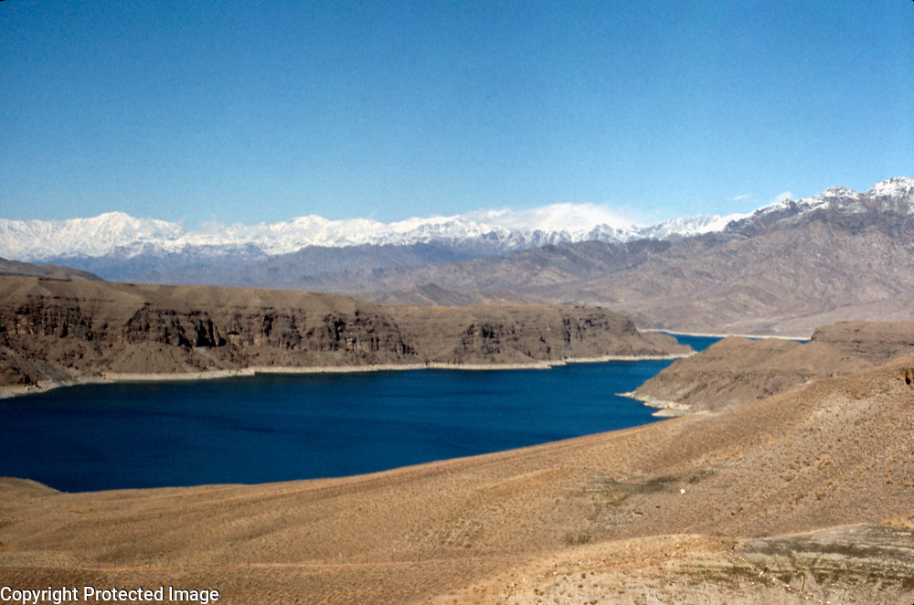 15 February 1976<br /> Looking north from the end of the reservoir. The reservoir stores 304,000 acre feet or 375 million cubic meters of water.