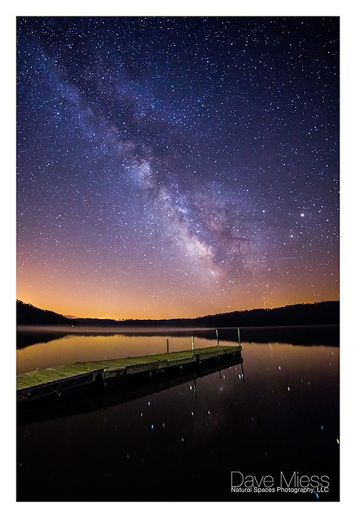 Milky Way and Pier - Yellowstone Lake