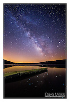 Milky Way and Pier - Yellowstone Lake